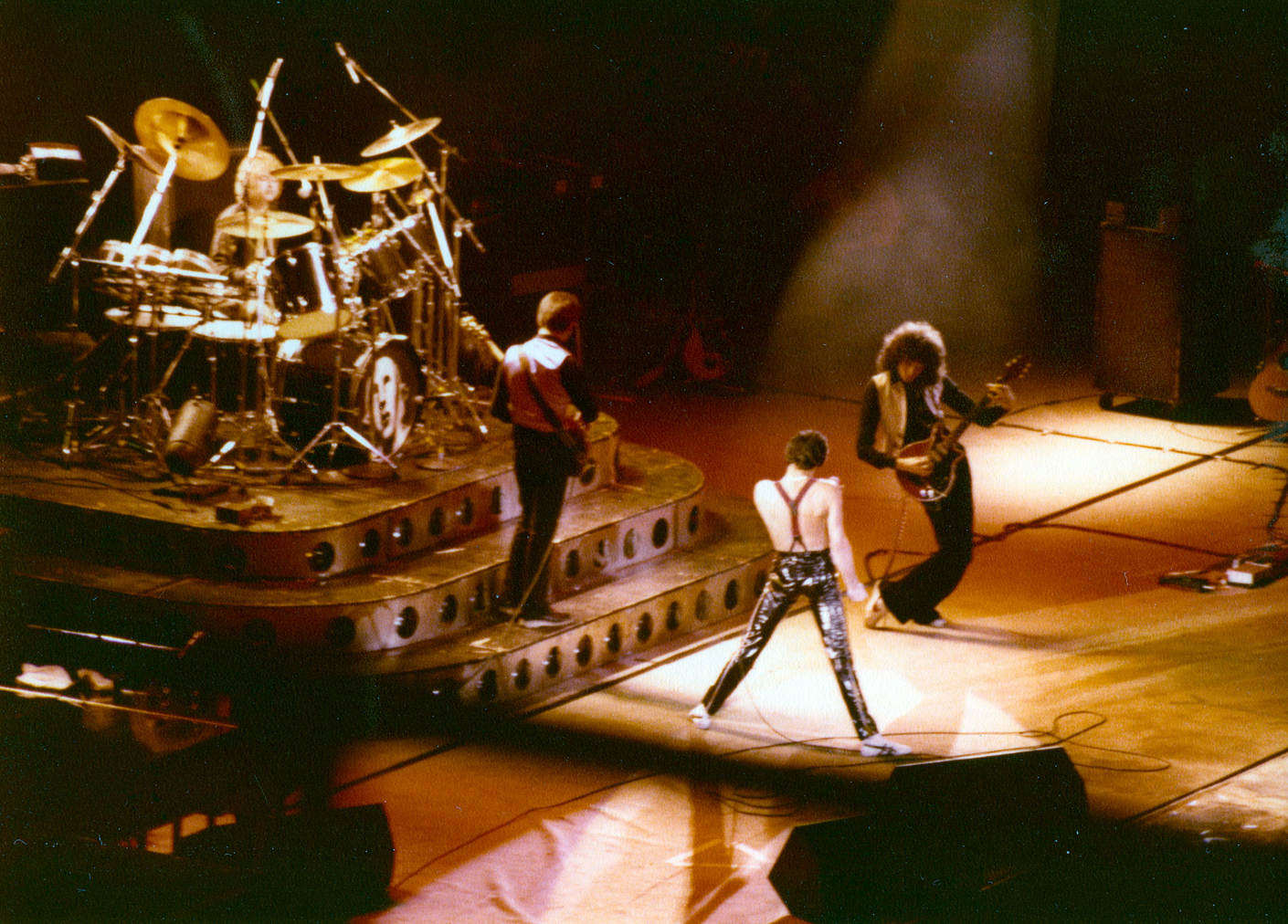Queen live in Montreal in Canada, 1976