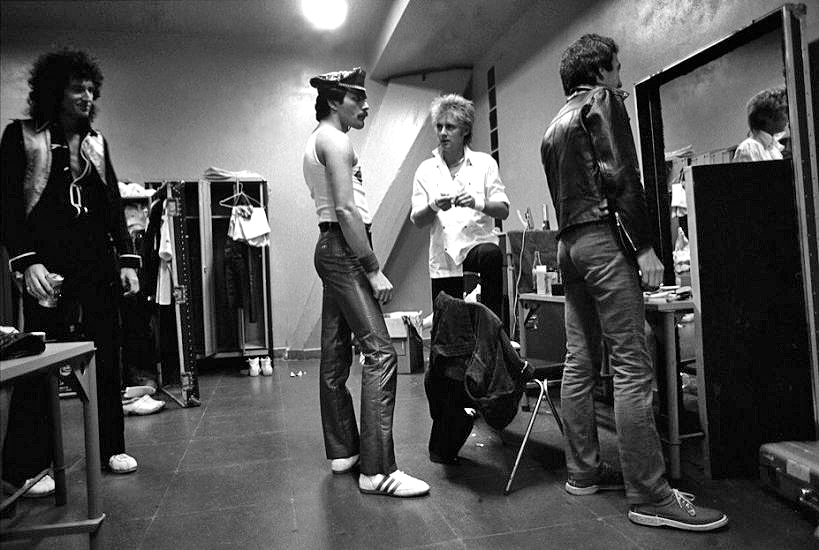 Queen. Backstage in Sao Paulo, 1980.